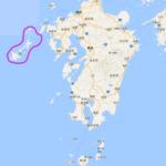 五島列島の位置です。